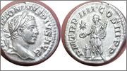 Denario de Heliogábalo. PM TR P IIII COS III PP - Emperador. Roma RIC_0046var