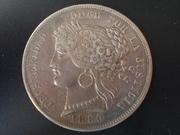 5 Pesetas de 1.880 , Perú DSCN1411