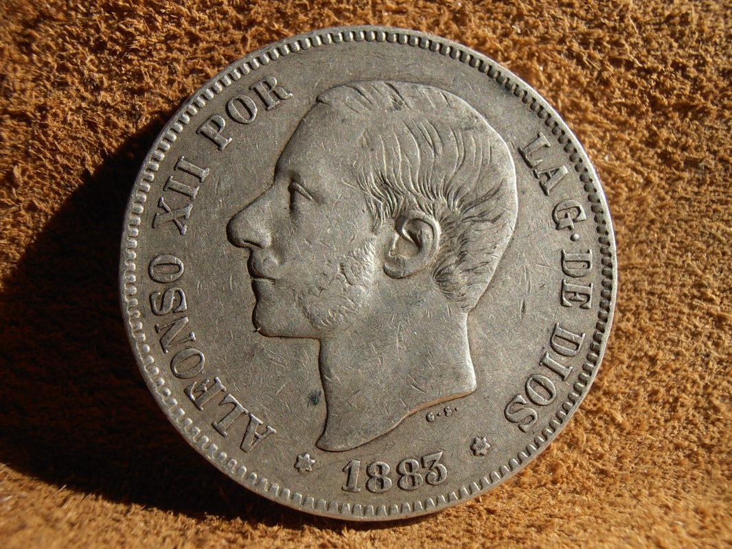 5 Pesetas 1883. Alfonso XIII P4020013