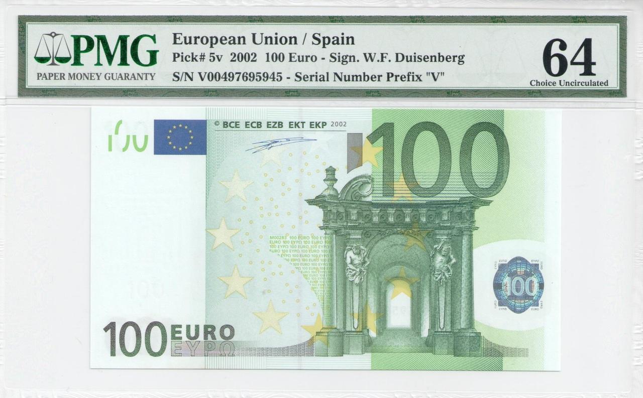 Colección de billetes españoles, sin serie o serie A de Sefcor - Página 3 100_euros_anverso
