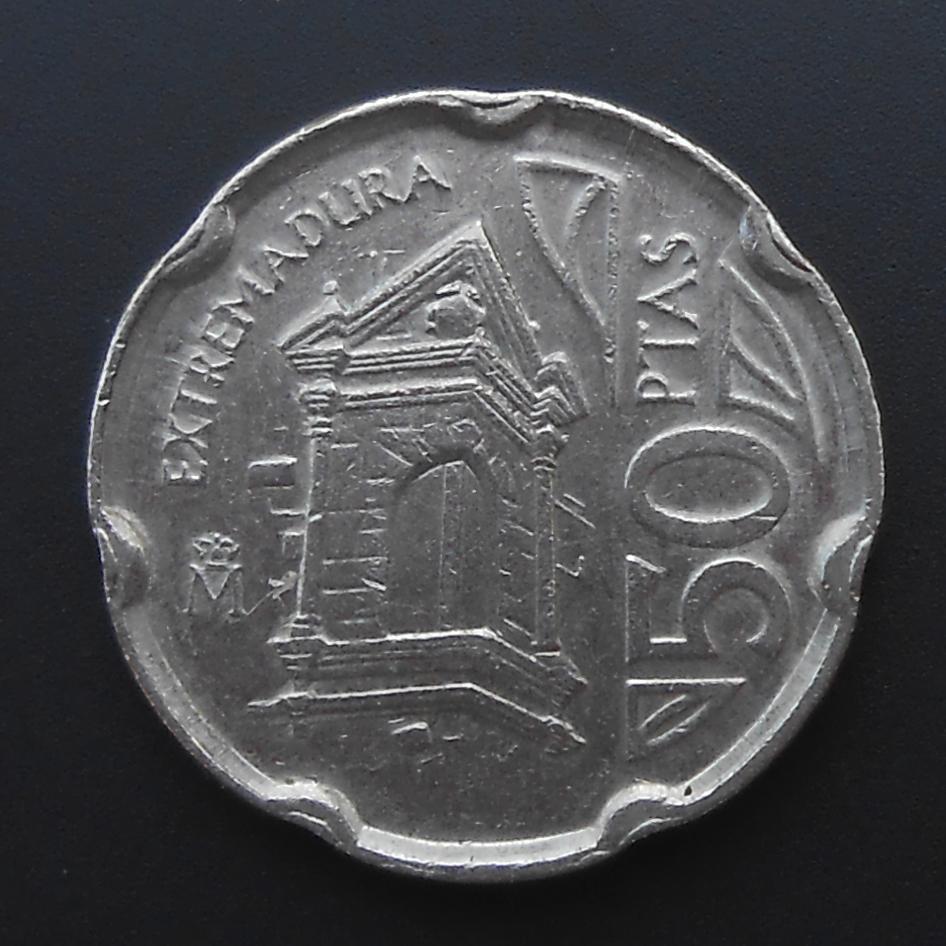 50 pesetas 1993 PUENTE DE ALCANTARA. Dedicada a Anmem. DSCN1333