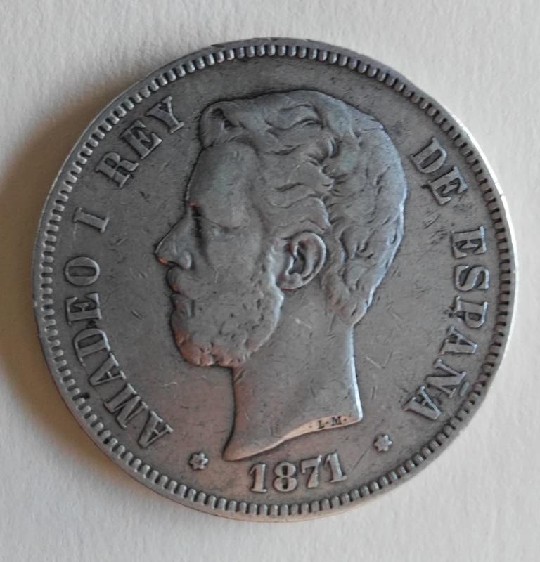 5 pesetas 1871 (*18-73). Amadeo I IMG_20161229_163321