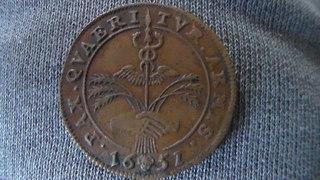 Jetón de Felipe IV. Bruselas. Año 1651. Negociaciones de Paz con Francia. SAM_1212