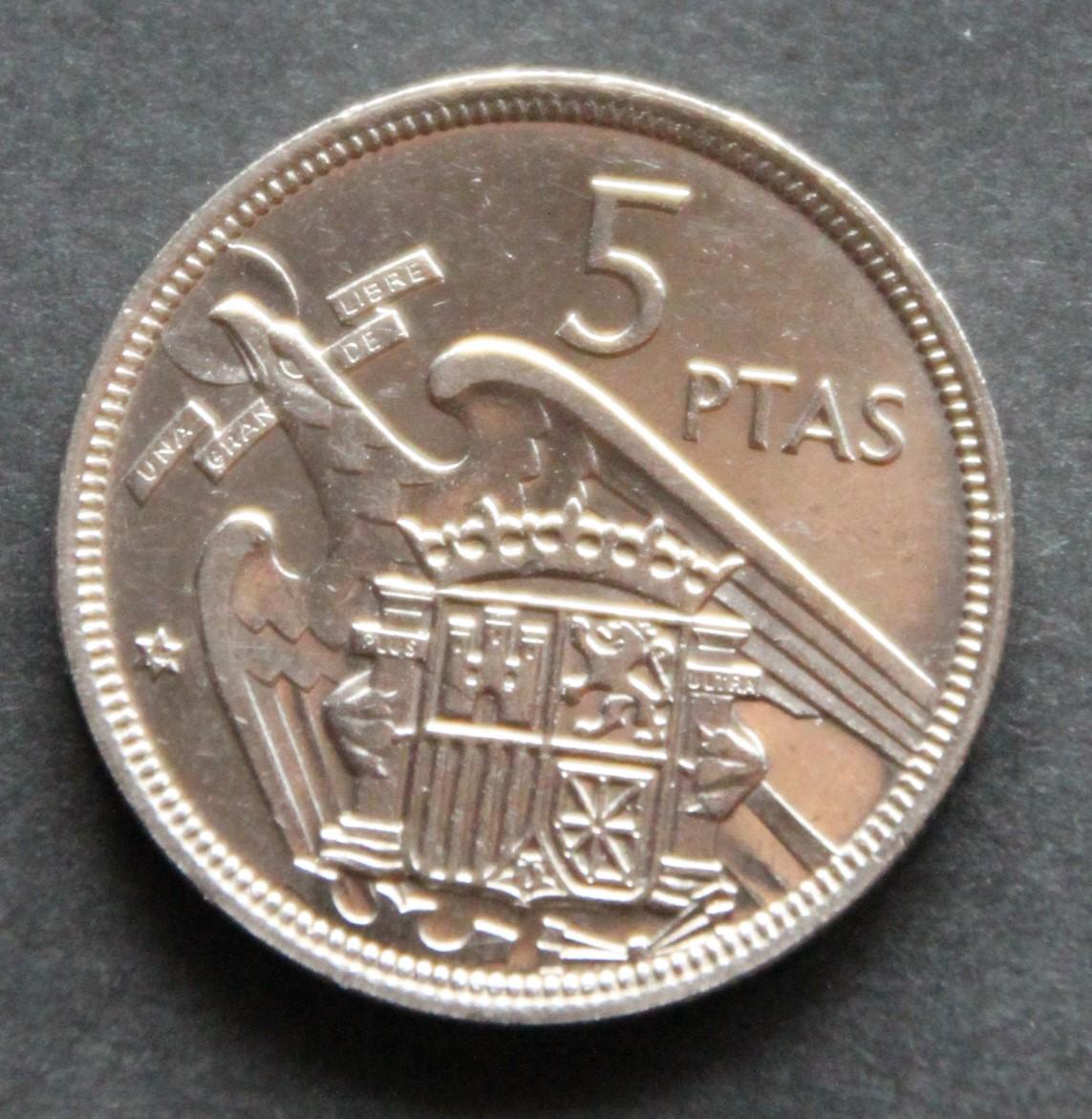 5 pesetas 1957 *74 IMG_1277