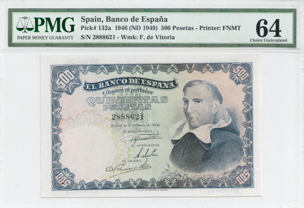 Colección de billetes españoles, sin serie o serie A de Sefcor - Página 3 500_del_46_anverso