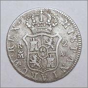 2    reales   Carlos IV   Madrid   1808 35_26