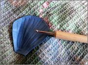 Скрапбукинг. Голубой мак, карандашница или декорваза для сухоцветов. 1_DSCF1918