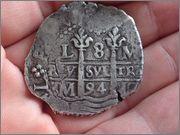 8 reales Carlos II, 1694, Lima IMG_1886