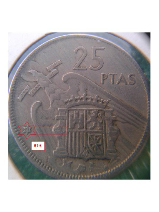Geometría de las estrellas de las monedas de 25 pesetas 1957* 61_6_E