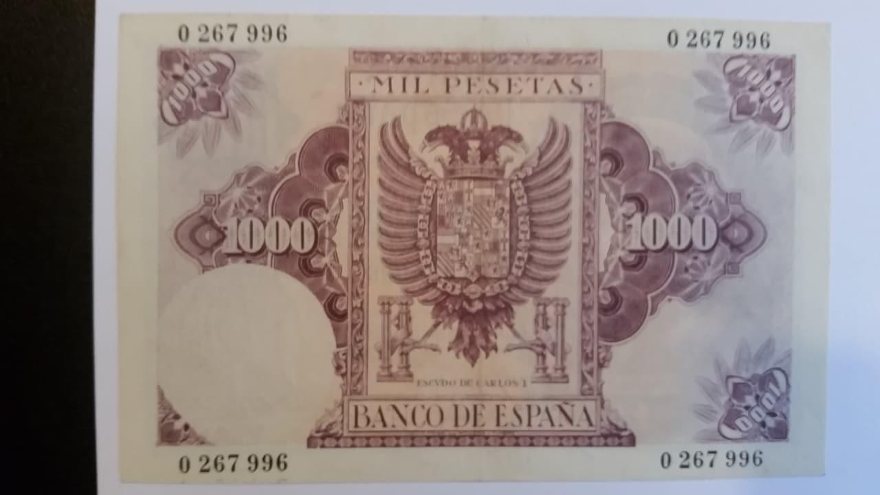 Colección de billetes españoles, sin serie o serie A de Sefcor pendientes de graduar 20161217_124109