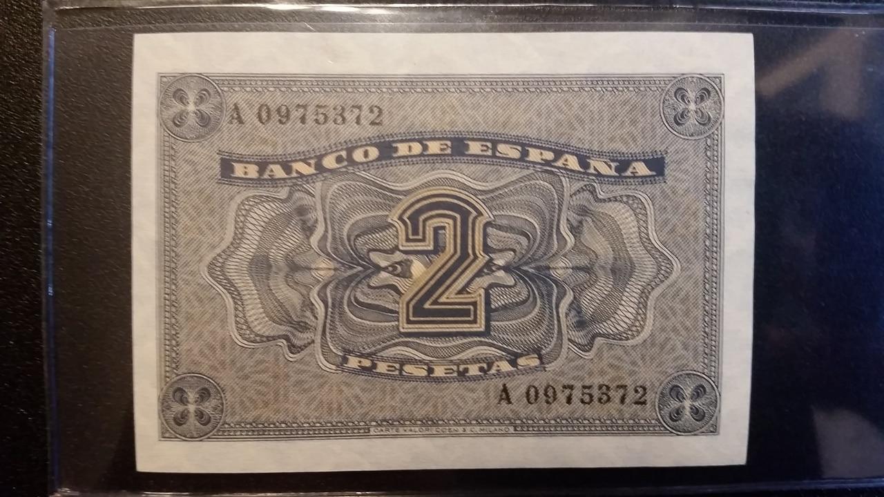 Colección de billetes españoles, sin serie o serie A de Sefcor pendientes de graduar 20161217_123134