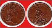 Jetón de Luis XIV. Año 1674. Núremberg. Batalla de Seneffe 1674_LVDOVICVS_MAGNO_REX_Nuremberg_Jeton