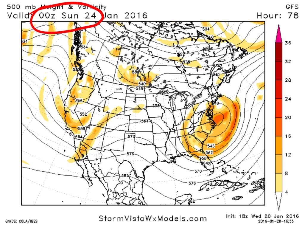 01/23/16 Storm Update #4 - A Tough 1st Call 18z_gfs_00z_sun_h5