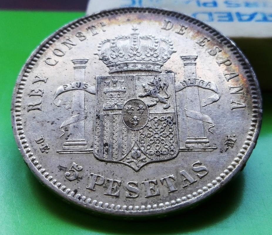 5 pesetas 1877. Alfonso XII. DE M 5_pts_1877_5