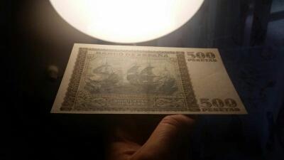 Colección de billetes españoles, sin serie o serie A de Sefcor pendientes de graduar 1477746739784_fact_1