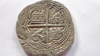 4 reales de Felipe II, Granada. F sobre lo que parece ser una D SAM_1067