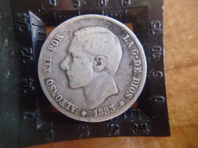 I aniversario numismario: 1 peseta alfonso XII 1883  P1100940