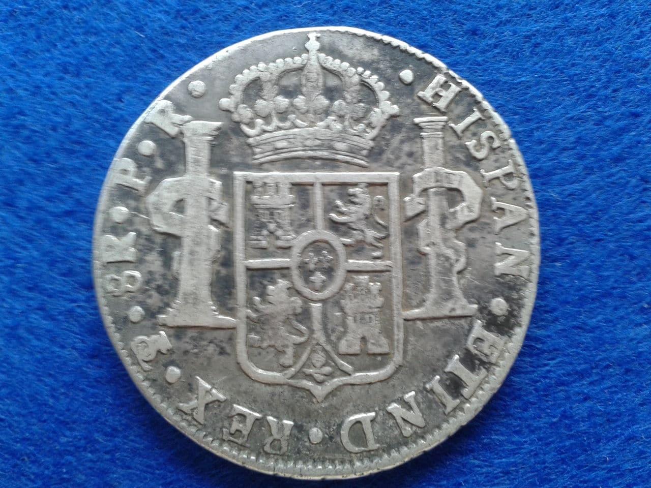 8 reales Carlos III 1785 Potosí 8_reales_de_Carlos_III_potosi_1785_anver