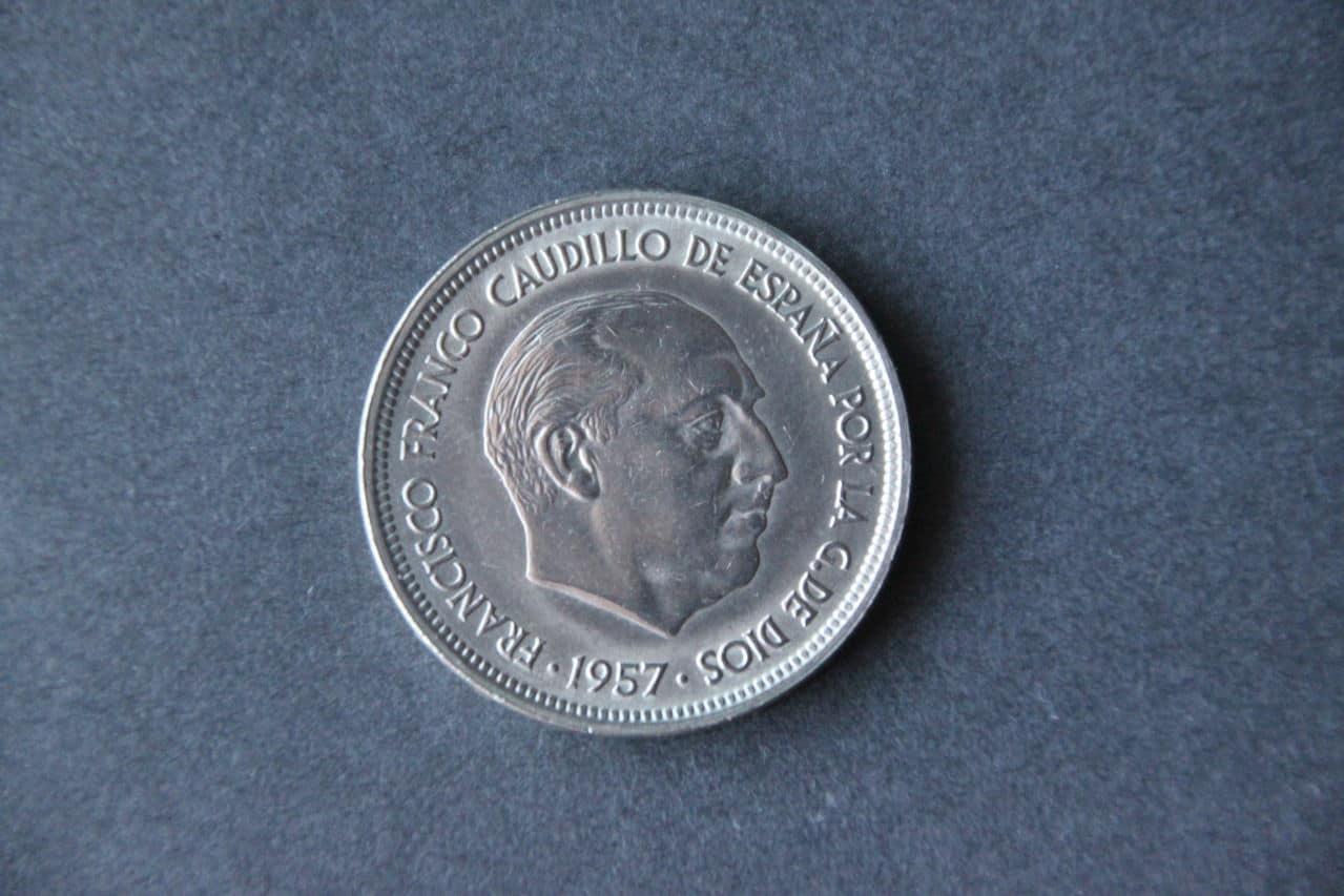 50 pesetas 1957 *58 Anverso