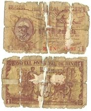 El billete peor conservado de esta seccion Billete_reus