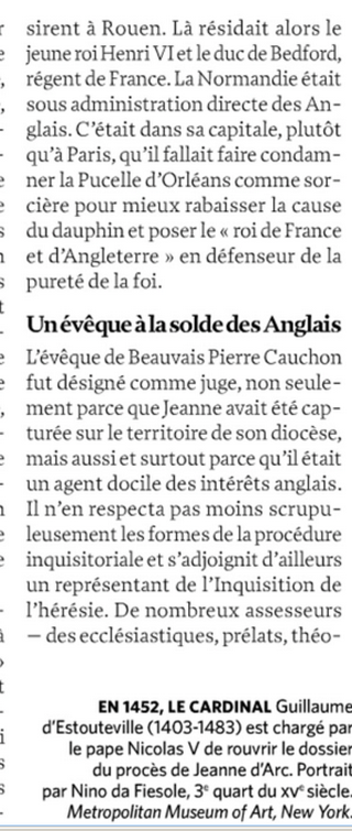 Jeanne d'Arc et La schizophrénie Image