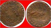 Jetón holandés. 1616. Utrecht. Prosperidad de las Provincias Unidas 1616