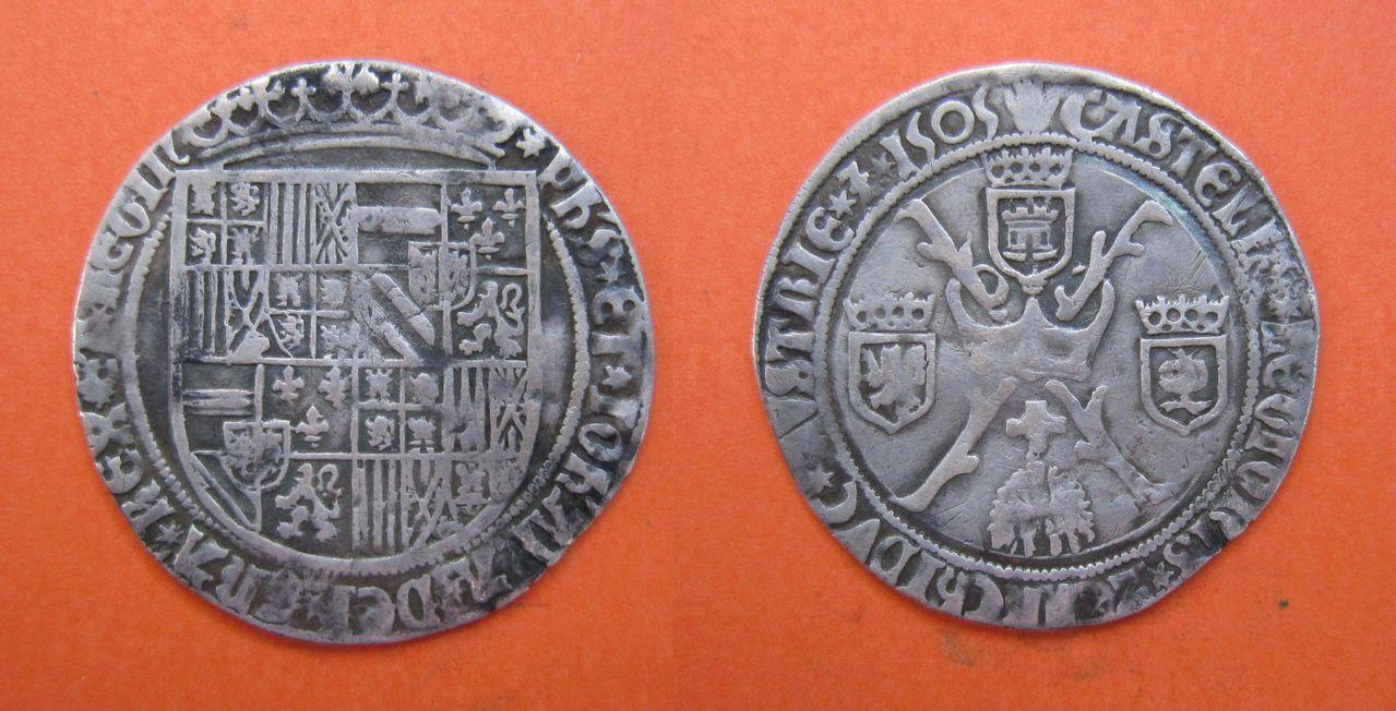 1 real 1505 Felipe I El Hermoso y Juana I de Castilla. Amberes 1_Real_Felipe_El_Hermoso_y_Juana_I_de_Castilla_1