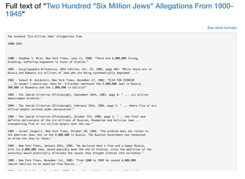 Sechs Millionen Quelle