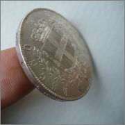 5 Liras 1871 Vittorio Emanuele II , Italia Image