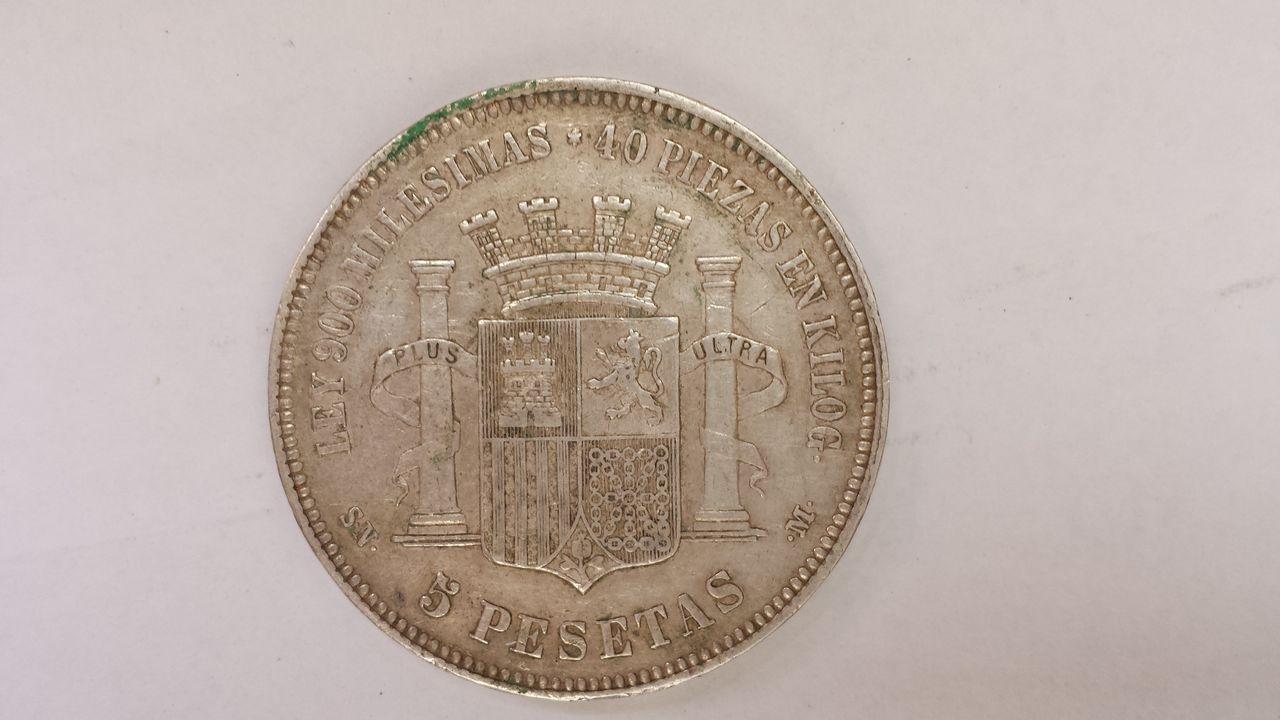 5 pesetas 1870.Gobierno provisional 1870_cara_b