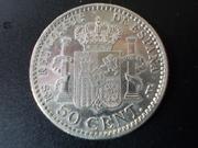 50 céntimos 1900. Alfonso XIII. Con propina DSCN1474