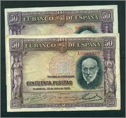 50 Pesetas 1935 (Serie A Image