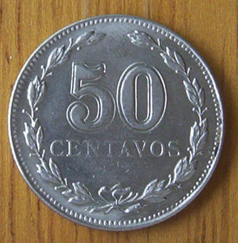 MONEDA DE 50 CENTAVOS (CABELLERA RIZADA) - ARGENTINA 1941 REVERSO_50_CENTAVOS