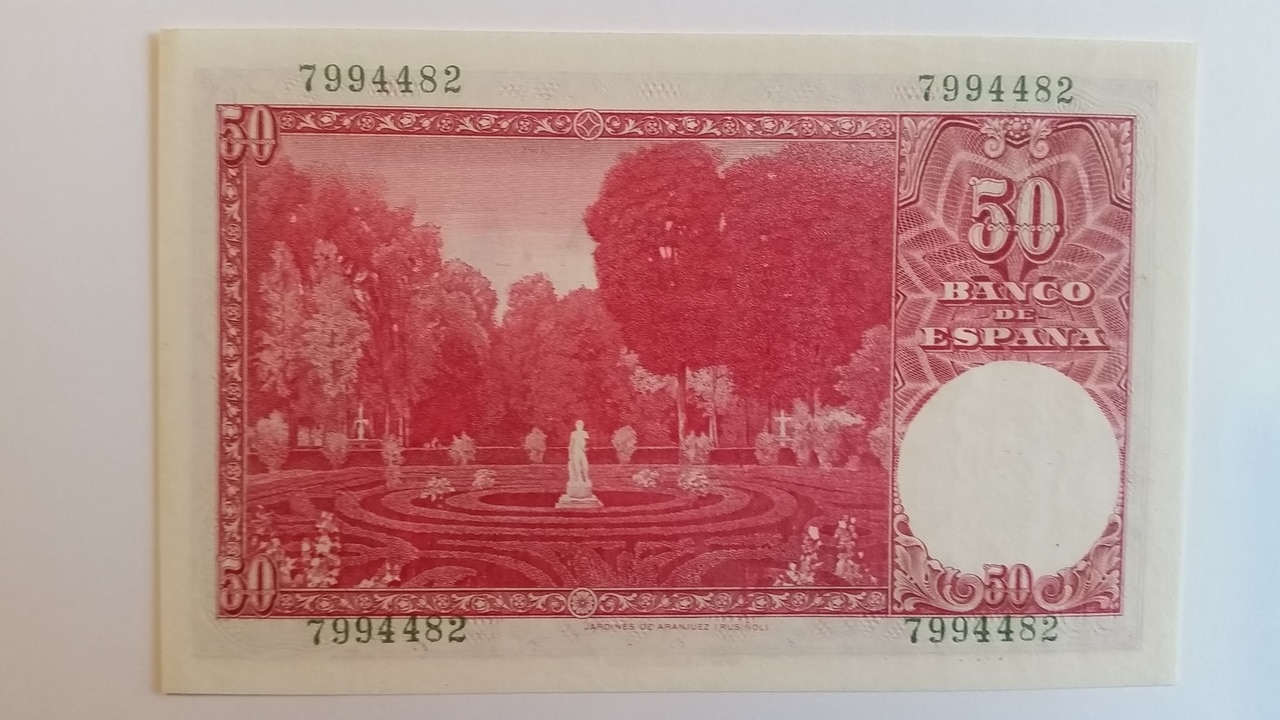Colección de billetes españoles, sin serie o serie A de Sefcor pendientes de graduar 20161217_121258