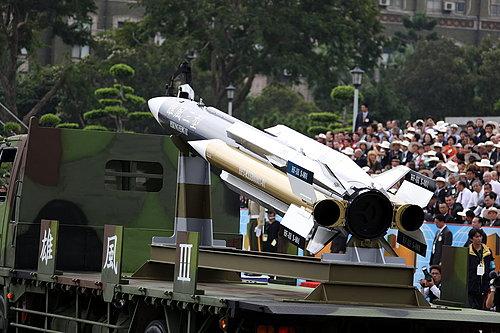 Taiwan ya adquirio y desarrollo  equipo militar propio para contra-restar el rapido crecimiento de armas en China MISIL_III_EN_PLATAFORMAMOVIL