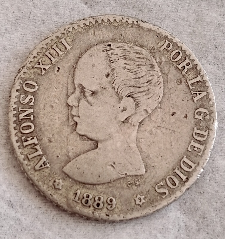 50 Céntimos Alfonso XIII 1889 Reverso incuso IMG_8944