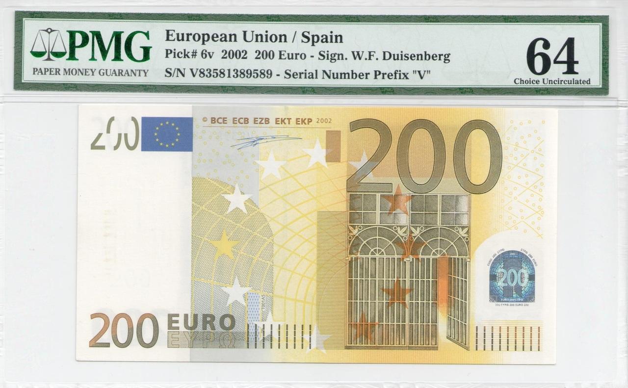 Colección de billetes españoles, sin serie o serie A de Sefcor - Página 3 200_euros_anverso