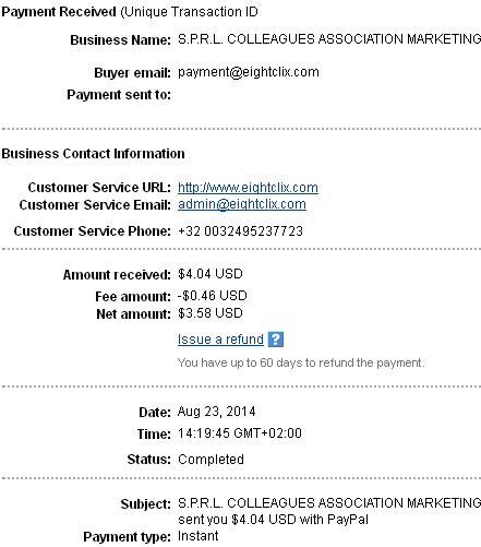 1º Pago de Firstclix ( $4,04 ) Firstclixpayment