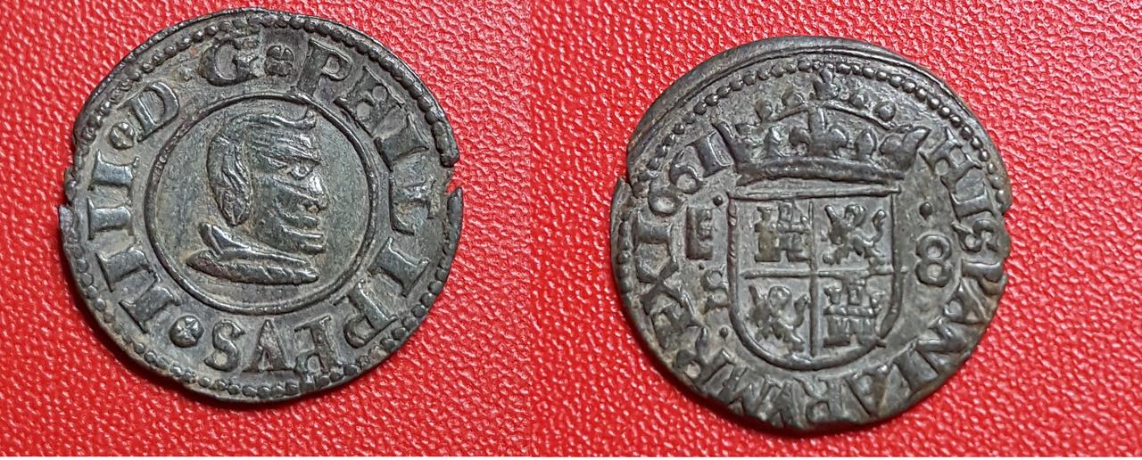 8 maravedís 1661. Felipe IV. Segovia Editadas
