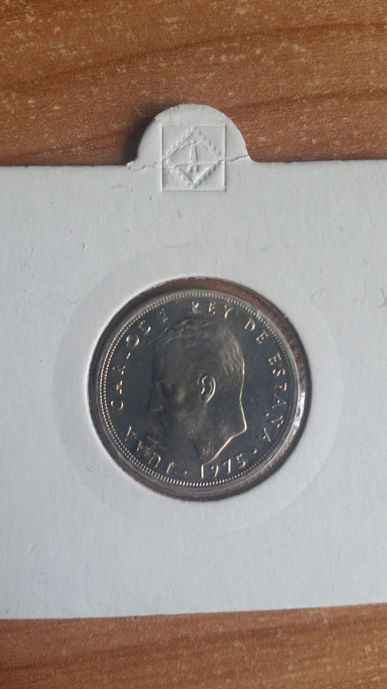 5 pesetas 1975 *80 globo crucífero 20160424_141624