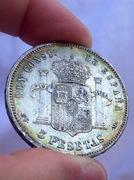 5 pesetas 1885 (18-87). Alfonso XII  Image