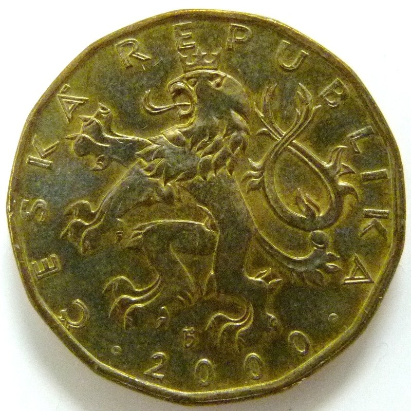 20 Coronas. República Checa (2000) Astrolabio CZE_10_Coronas_ROK_2000_astrolabio_anv