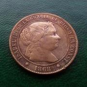 2 ½ céntimos de escudo 1868. Isabel II. Barcelona IMG_20160713_205817_537