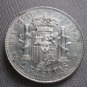 2 pesetas 1884 (*18-84). Alfonso XII 20180504_210238
