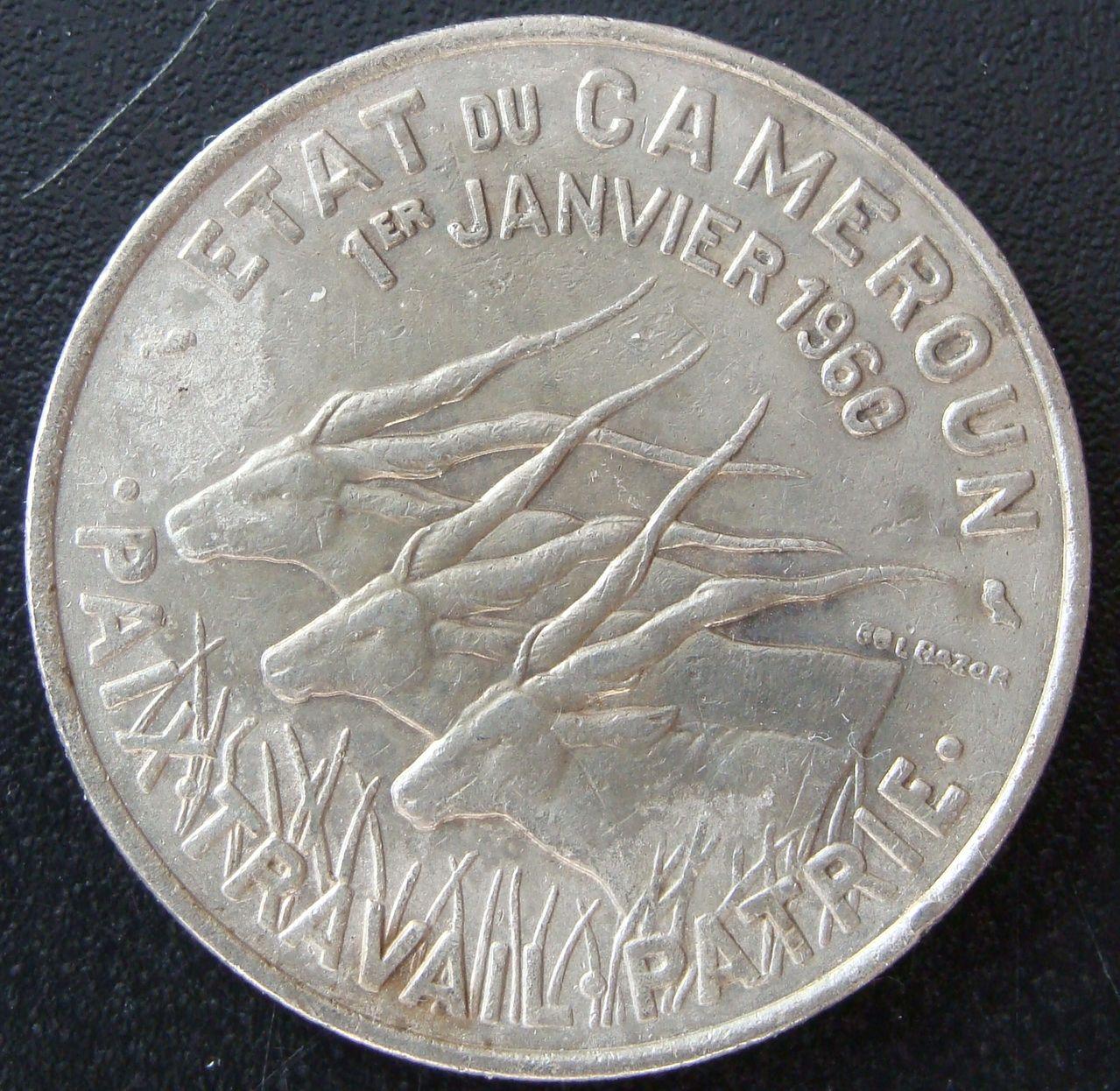50 Francos. Camerún (1960) CAM_50_Francos_Independencia_anv