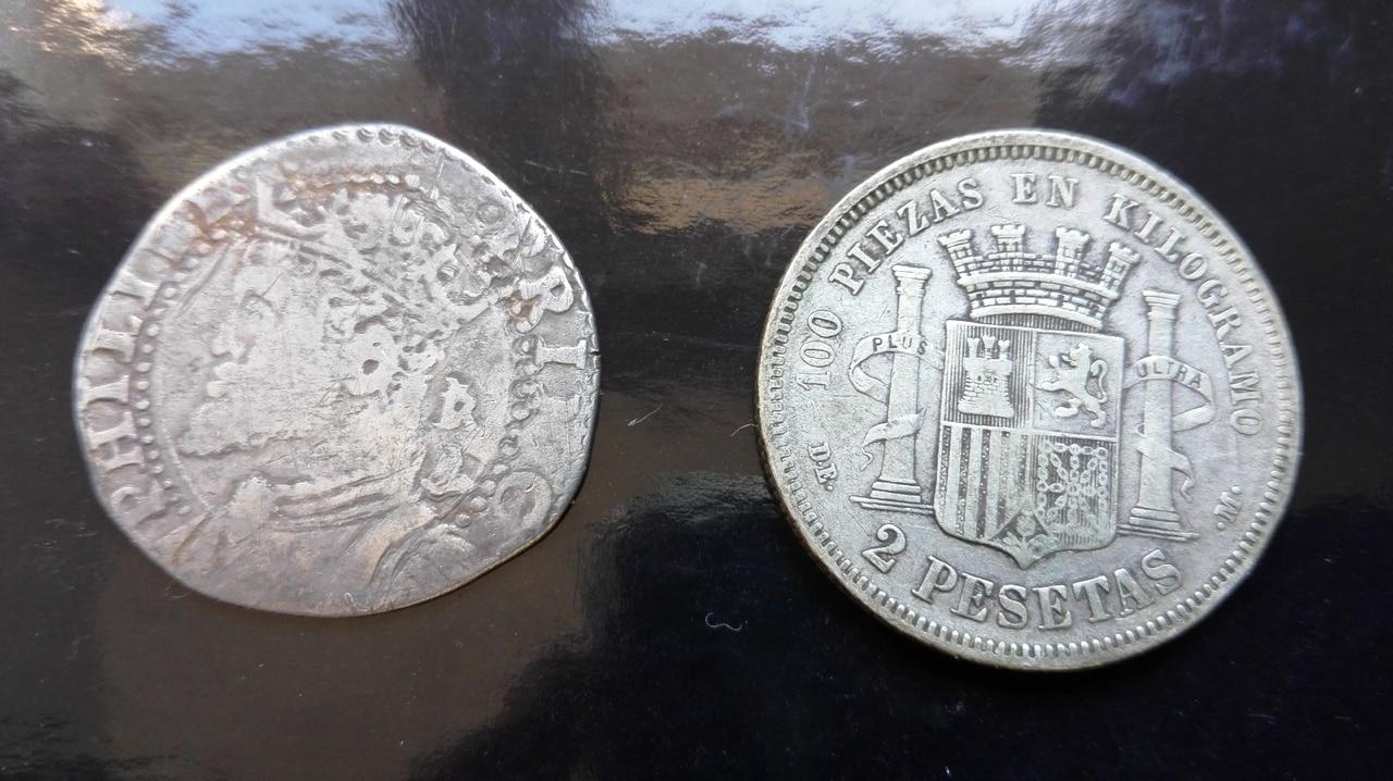 1 tari, Felipe II como príncipe de España y rey de Inglaterra Tari_felipe_II_princep_5