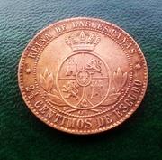 2 ½ céntimos de escudo 1868. Isabel II. Barcelona IMG_20160715_214626_020_1