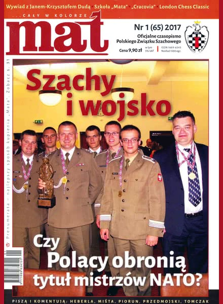 CHESS PERIODICALS :: Czasopismo MAT (Polish Chess Magazine) Mat-65-2017-01