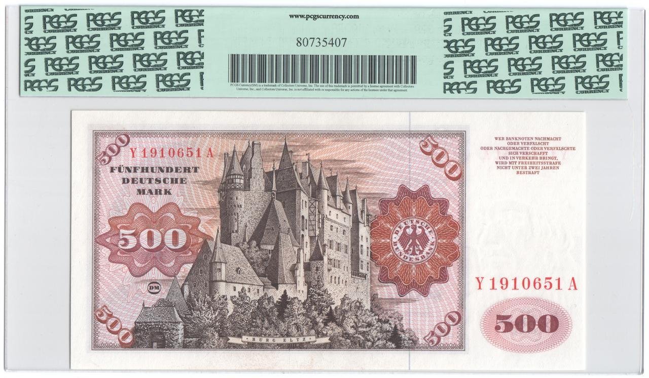 Billetes de reemplazo, no españoles Ger500r