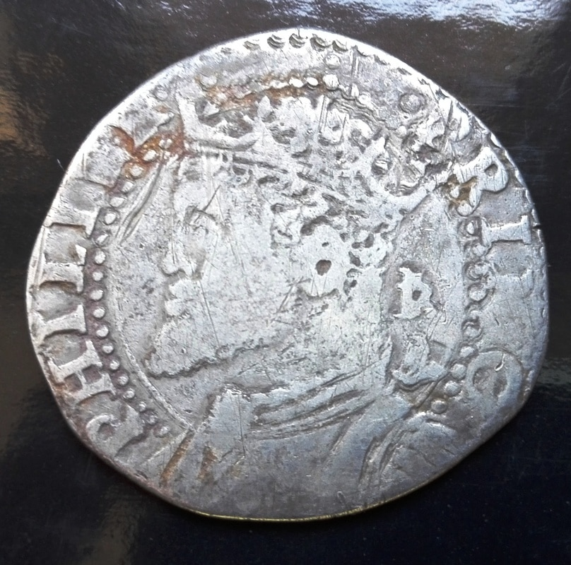 1 tari, Felipe II como príncipe de España y rey de Inglaterra Tari_felipe_II_princep